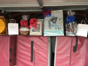 Sports Memorabilia kept safe in the shed.