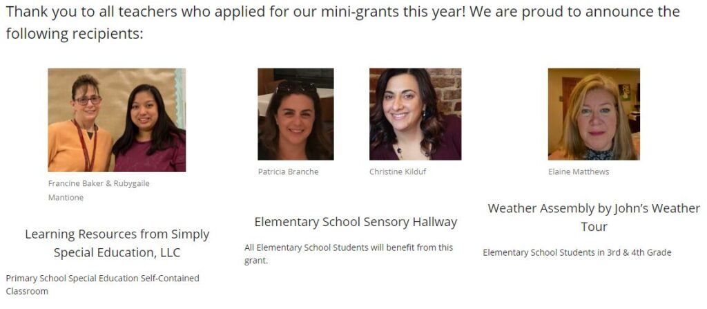 2021 teacher mini grants